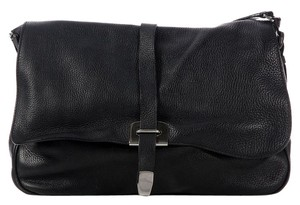Prada Black Leather Pebbled Shoulder Bag