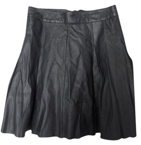 Patterson J. Kincaid Leather Mini Skirt Black Leather