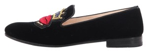 Prada Black Crown Pr.k0603.09 Slippers Flats