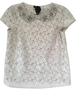 Ann Taylor LOFT Peter Pan Collar Lace Top