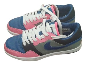 Nike Air Force Ones Low Top Pink and Blue Athletic