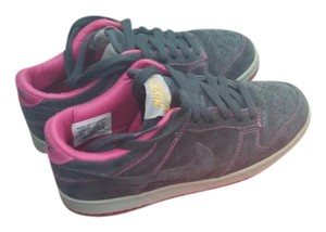 Nike Dunks Pink Dark Grey and Fuschia Athletic