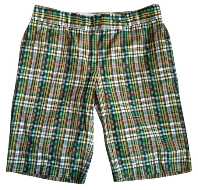 Item - Plaid Green Navy Yellow City Fit Shorts Size 4 (S, 27)