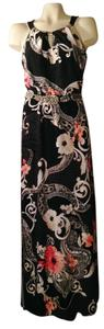Black/ Multi Maxi Dress by White House | Black Market Maxi Halter Jewelry Floral