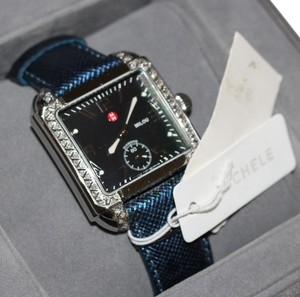 Michele NWT $1795 MILOU Diamond Black Mother of Pearl w/band MW15A01A2026