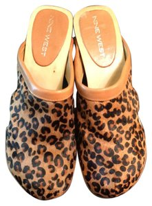 Nine West Leopard Multi Mules