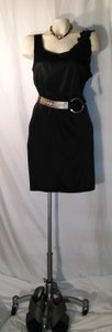 DKNY short dress black Stretchy Silk Designer Wedding Donna Karan on Tradesy