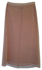 Moschino Pencil Skirt White with Light Pink