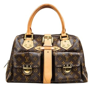 Louis Vuitton Manhattan Gm Monogram Canvas Satchel in Brown