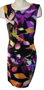 Trina Turk short dress black/ Multi Ruching on Tradesy
