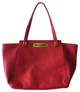 Elliot Lucca Leather Tote in Red