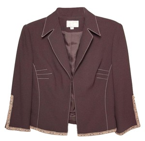 Alberto Makali Grommets Buttons Lace Brown Jacket