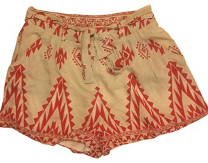 Francesca's Dress Shorts Red and Beige