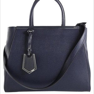 Fendi 2jours Fashion Navy Shoulder Bag