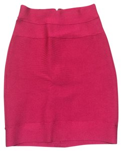 Herv Leger Mini Skirt Pink