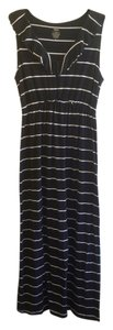 Black with white strips Maxi Dress by Mossimo Supply Co. And
