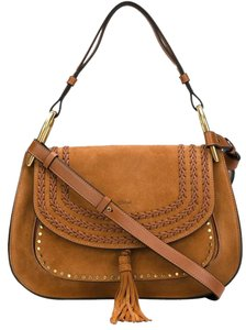 Chloé Suede Brown Tassel Crossbody Shoulder Bag