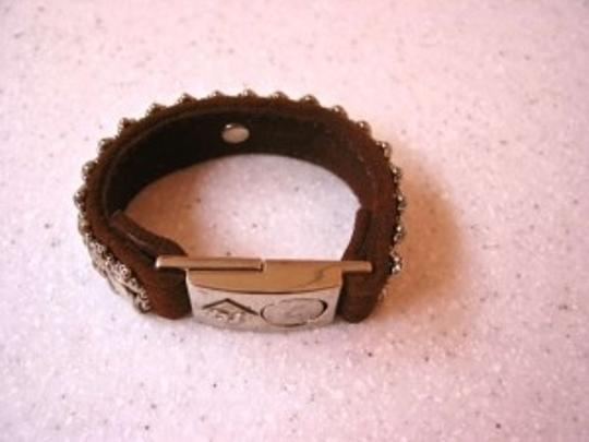 Unknown Leather & steel bracelet