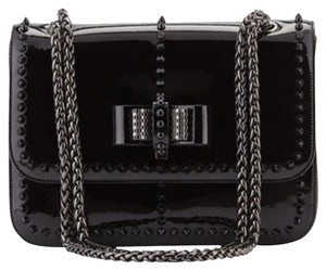 Christian Louboutin Spiked Patent Shoulder Bag