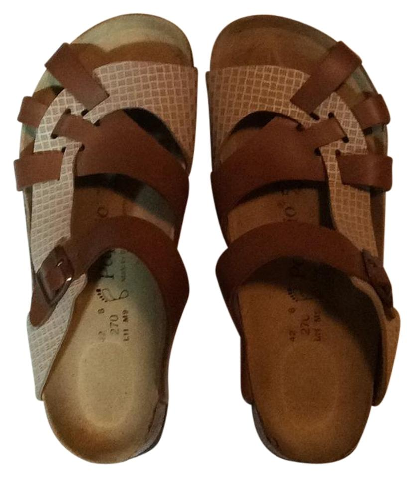 32763124d8ec Birkenstock Brown and Cream Pisa Sandals Size US 11 Regular (M