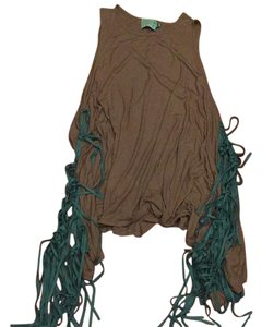 Judith March short dress Fringe Boho Festival Crochet on Tradesy