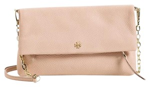 Tory Burch Rose Rose Gold Leather Cross Body Bag