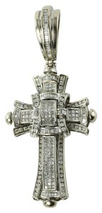 Diamond Cross Pendant 5 Carats Diamond Paved Cross Pendant