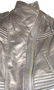 Michael Kors Xl Leather Biker Leather Jacket