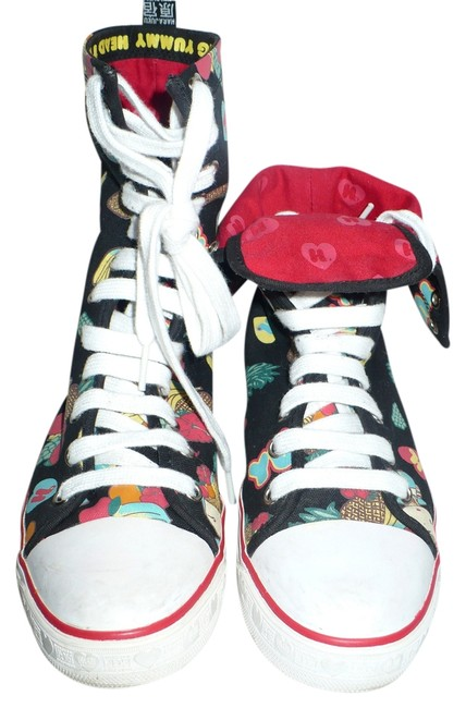 """Item - Multi-fruit The Kogal Fold Tex In """"Head-to-toe Yummy"""" Hi-top Canvas Sneaker / Boots/Booties Size US 7 Regular (M, B)"""