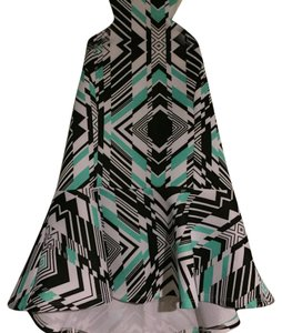 Charlotte Russe Black, green, and white Halter Top
