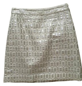 Banana Republic Mini Skirt Off white & sliver