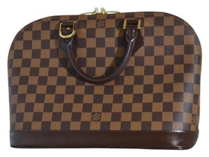 Louis Vuitton Alma Satchel in Damier Ebene