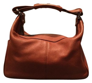 Tod's Stylish Tods Leather Fall Satchel in Rust