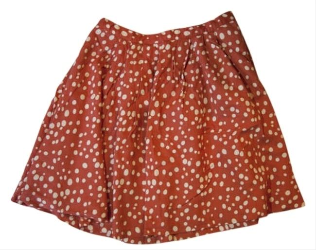 Forever 21 Polka Dots Skirt Red