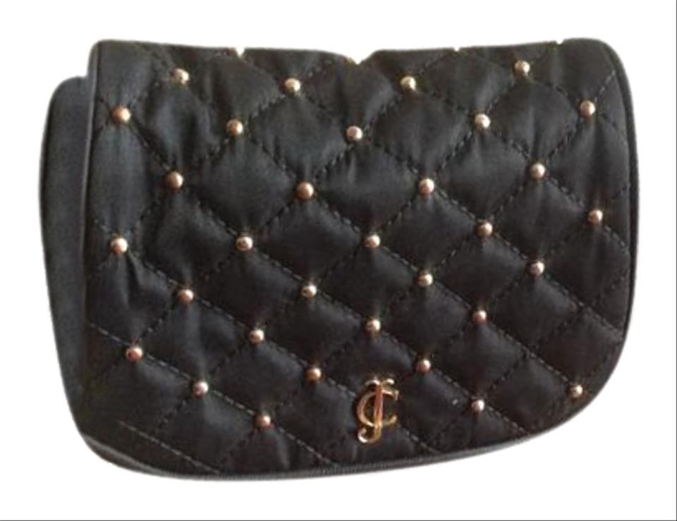 Juicy Couture Party Girl Black Chain Beaded Quilted Cross Body Bag ... 8481ce9eb