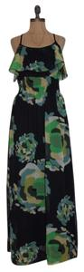 MULTI COLOR Maxi Dress by Jaloux Ruffle Floral
