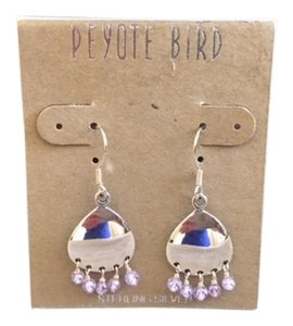 Peyote Bird Sterling Silver Amethyst Bead Dangle Earrings