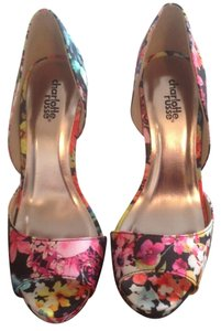 Charlotte Russe Floral Multicolor Pumps