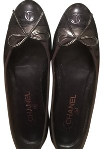 Chanel Dark grey Flats