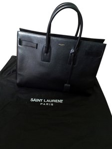 Yves Saint Laurent Leather Tote in Black
