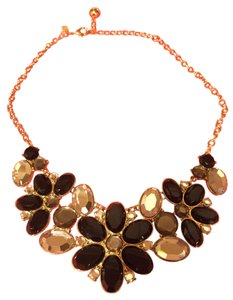 Kate Spade faceted floral statement necklace