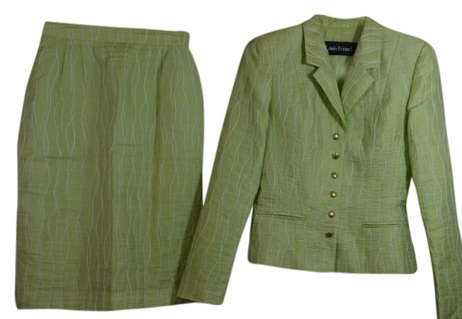 Preload https://item4.tradesy.com/images/louis-feraud-lime-green-woman-s-skirt-suit-size-4-s-1864923-0-0.jpg?width=400&height=650