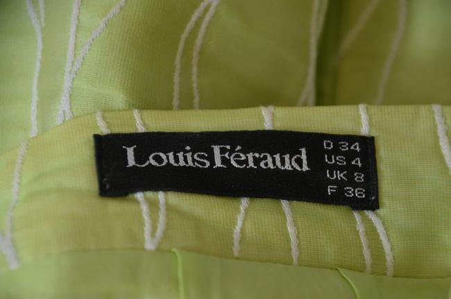 Louis Feraud LOUIS FERAUD LIME GREEN WOMAN'S SKIRT SUIT SIZE 4 ON SALE