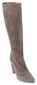 Tod's Suede Taupe Boots