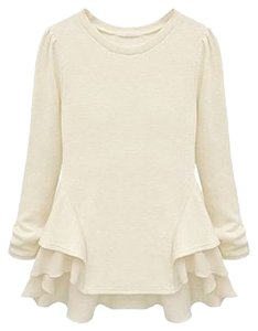 Society of Chic Top Pearl White