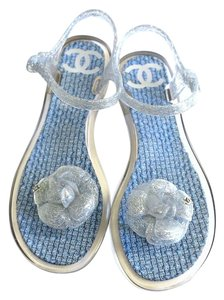 Chanel Jelly Sandal silver Sandals
