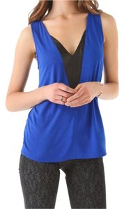 AIKO Top Blue/Black