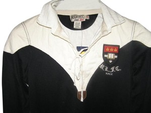 Rugby Ralph Lauren short dress Black Clearance Open Laces Neck Collar Cream Top 35 Inches Length Black on Tradesy