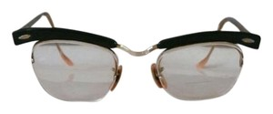 Bausch & Lomb Mid Century Bausch and Lomb Brow Line Glasses Frames 12k gold detail
