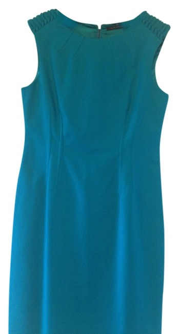 Preload https://item4.tradesy.com/images/elie-tahari-turquoise-knee-length-workoffice-dress-size-10-m-1865033-0-0.jpg?width=400&height=650